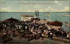 Baton Rouge LA Ferry Boat Steamer Dock Landing c1910 Postcard