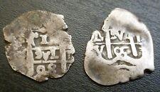 Bolivia x2 POTOSI MINT Argento 1 Real tutoli 1698 Carlo II e 1705? Philip V