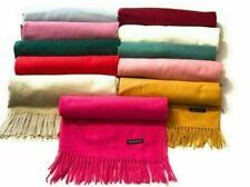 Wool Patternless Pashmina Scarves for Women