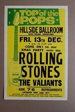 Rolling Stones Concert Tour Poster Hillside Ballroom 1963