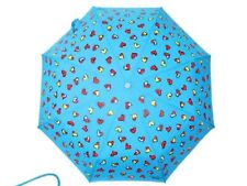 Boutique Moschino blue heart umbrella with push button open and close