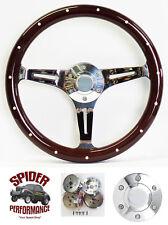 "Fits all cars 1965-1969 Mercury steering wheel 15"" DARK MAHOGANY"