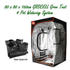 INDOOR GROW TENT 80X80X160CM GroCELL AND 4 POT HYDROPONIC WATERING SYSTEM