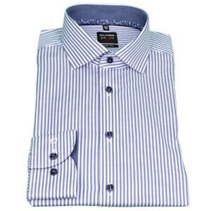 Olymp Corpo Fit Level 5 Camicia Blu a Righe 2112 54 19