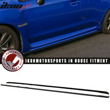 Fits 15-18 Subaru Impreza WRX STI Side Skirts Splitter Unpainted - ABS