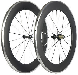 80mm Alloy Brake Surface Carbon Wheels Road Bike Carbon Wheelset Clincher Matte
