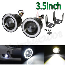 2x 3.5inch Round LED Driving Projector Fog Light with Angel Eyes Halo Ring 12V