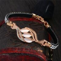 Exquisite 18k Gold Filled opal Austrian crystal lady's bracelet