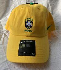 Nike Brazil Brasil WC World Cup 2018 Soccer Adjustable Fan Badge Hat Cap Yellow