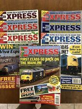 Rail Express Magazine x7. 1998, 2000 x3, 2001 x3.
