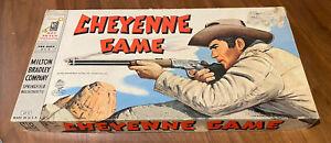 Vintage Cheyenne Board Game Milton Bradley 1958 Clint Walker Western Complete
