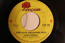 "DADDY DEWDROP - ""John Jacob Jingleheimer Smith"" 45 RPM Vinyl Record Chick-A-Boom"