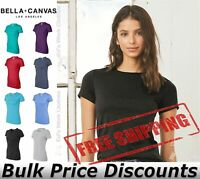 BELLA + CANVAS Women's The Favorite Tee T Shirt Blank Top 6004 up to 2XL