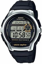 Casio WV-M60-9A, Digital Waveceptor Watch, Resin Band, Chronograph, Alarm
