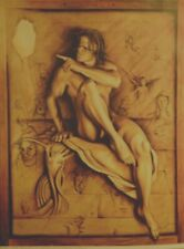 "Affiche d'ARTISTE  "" MICHEL GILIBERTI ""   49 x 64 cm"