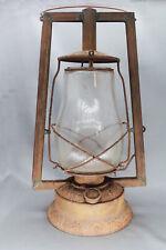 Antique Dietz Victor Kerosene Lantern H40 Globe with Lots of Character/Rust