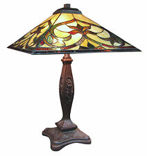 Tiffany Style Table Lamp H 56cm Nouveau/deco Design Glass Shade 40cm Bulb