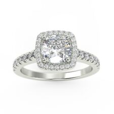 Certified... 2ct  Cushion Halo Diamond Engagement Ring - Discounted Price
