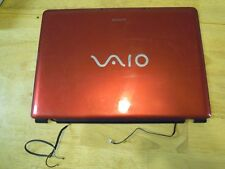 Sony Vaio PCG-5K1L VGN-CR320E Red Lid - LCD Back Cover, Mic, Antenna #257-30