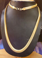 22K Gold Plated Indian 28'' Long Chain High Quality Bridal Set Party avv