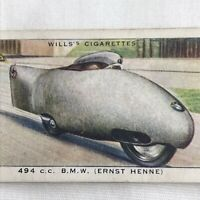 494cc BMW Racing Motorcycle Wills Cigarette Tobacco Card Vintage 1930s