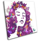 Women Butterfly Illustration SINGLE CANVAS WALL ART Picture Print