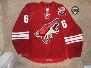 Phoenix Coyotes # 6 David Schlemko 12/13 Set 1 Home Game Worn Jersey LOA