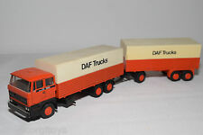 LION CAR DAF 2800 TRUCK WITH TRAILER PROMO WERBE NEAR MINT CONDITION .