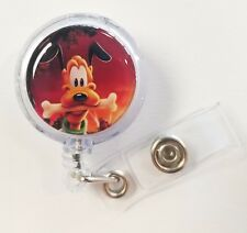 Disney's PLUTO. Dog Lovers. Retractable Badge Name Tag ID Holder 3D