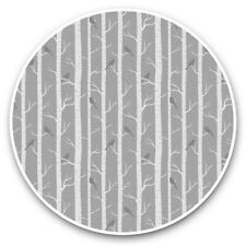 2 x Vinyl Stickers 25cm (bw) - Winter Woodlands Forest Trees  #40878