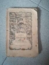 BIBLIOTECA UTILE VARIETA' DI STORIA NATURALE PER ARTURO ISSEL 1866