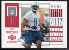 2002 UD Piece of History 155 Albert Haynesworth Rookie 370/500