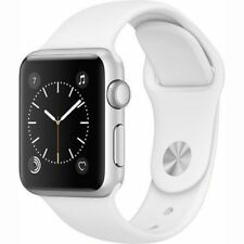 Apple Watch Gen2 Series 1 38mm Silver Aluminum Case White Sport Band MNNG2LL/A