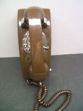 Vintage 1970's Brown  Rotary Dial Mini Wall ITT Telephone