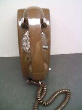 Vintage 1970's Brown  Rotary Dial Mini Wall ITT Telephone