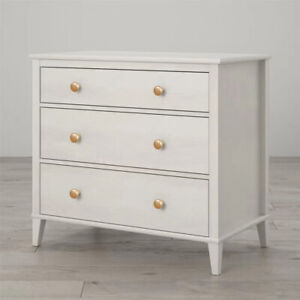 Solid Wood 3 Drawer Dresser Chest of Drawers Clothes Storage Bedroom Furniture