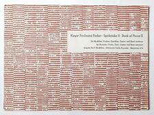 KASPAR FERDINAND FISCHER Spielstücke II   Bärenreiter 974   1937