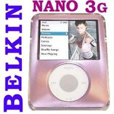 $25 BELKIN Alum & Acrylic Case~3rd Gen Apple IPOD Nano ~covers ALL ~Lite Pink