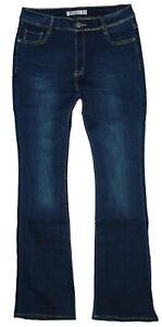 Damen Schlag Jeans Boot-Cut Hose Stretch high waist used Gr.34-52 W27-W42 NEU