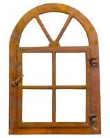 Sonderangebot !! Fenster mit Tür Bogen  Gussfenster  Stallfenster  Rost