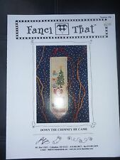 FANCI THAT CROSS STITCH PATTERNS # 196 -DOWN THE CHIMNEY HE CAME-SANTA-CHRISTMAS