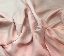 "Silk/Cotton SATIN SATEEN Fabric Hand Dyed BABY PINK 54"" by the yard"