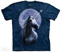 Starlight  T-Shirt by The Mountain. Unicorn In Moonlight Tee Sizes  S-5XL NEW