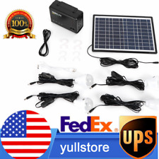 Portable Solar Generator Solar Panel Power Inverter Electric Generator Kit Light