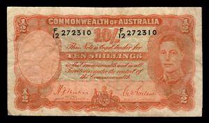 Australia 1939 - Sheehan/McFarlane Ten Shilling Banknote - F12 272310