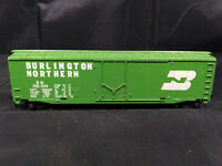 Tyco Burlington Northern BN HO Scale Green Box Car. VINTAGE, WEIGHTED.