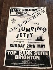Joboxers pop rock band vintage tour concert poster Brighton 29 May 1983