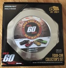 Gone in 60 Seconds Four Car Film Reel, Greenlight 59020A, 1/64 Scale Diecast Set