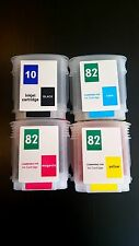 Refillable ink cartridge 82 & 10 for HP Designjet 100 500ps 800 120ps 50 815 set