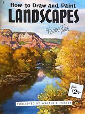 How to Draw & Paint Landscapes #8 Color Chart Tone Values Walter T. Foster 1961